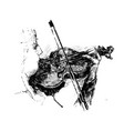 drawing classical musician plays instrument vector image vector image