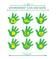 Eco Design Elements Isolated with hand vector image vector image