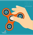 fidget spinner relaxing toy vector image