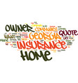 find a low rate georgia home owner insurance vector image vector image