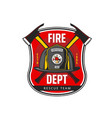 fire department icon fireman helmet and axes vector image vector image