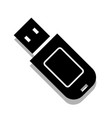 flash drive icon on white background vector image