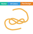 Flat design icon of rope vector image vector image