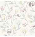 Floral print seamless background vector image vector image