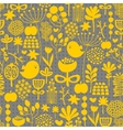 Floral seamless pattern with cute small birds vector image vector image