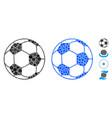 football ball mosaic icon circle dots vector image vector image