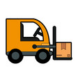 forklift with boxes icon image vector image