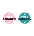 free paraben label for cosmetic natural vector image