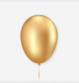 golden balloon realistic style vector image