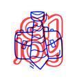 hand draw doodle job portfolio and tie education vector image vector image
