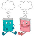 happy books vector image vector image