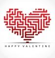 Heart maze vector image vector image
