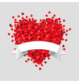heart with white ribbon vector image vector image