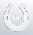 Horseshore 2014 white vector image vector image