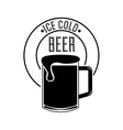 ice cold beer poster vector image
