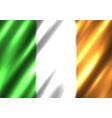 irish national flag background vector image