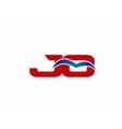 JO Logo Graphic Branding Letter Element vector image vector image