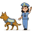 K-9 Police Dog vector image vector image