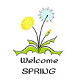 labels with hand written phrases about spring vector image vector image