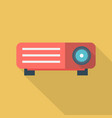 lcd projector icon set of great flat icons with vector image