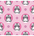 little raccoon seamless pattern vector image