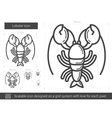 Lobster line icon vector image vector image