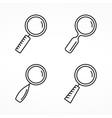 Magnifying Glass Line Icons vector image