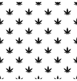 Marijuana leaf pattern simple style vector image vector image