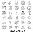marketing marketing strategy advertising vector image