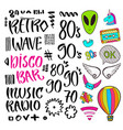 modern lettering pop art stickers and signs vector image vector image