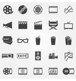 Movie or cinema icons vector image