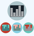 Music Equalizer icon set vector image
