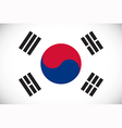 National flag of South Korea vector image vector image