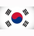 national flag south korea vector image vector image