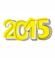 New Year 2015 hand drawn sign isolated on white vector image vector image