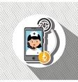 nurse 24-hour health lab isolated icon design