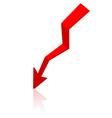 Origami arrow paper vector image