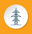 power line transmission tower icon in flat style vector image