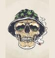 rastaman skull art vector image vector image