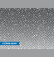 realistic falling snow with snowflakes winter vector image vector image