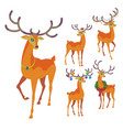 reindeer christmas icon graceful deer collection vector image vector image