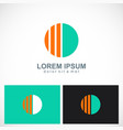 round line abstract company logo vector image vector image