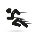 Running people in motion Simple symbol of run vector image vector image