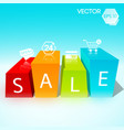 sale design template vector image vector image