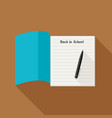 school notebook with pencil vector image vector image