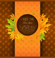 seasonal autumn sale poster vector image