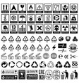 set icons for packaging and recycling elements vector image vector image