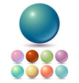 set muted color balls vector image vector image