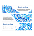 Set of banners with blue diamonds texture vector image