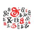 Set of decoration ampersands vector image vector image